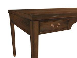 3d model fritz henningsen table furniture