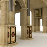 Roman Gate - High Quality Architectural 3d model