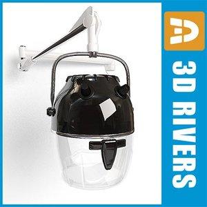 3ds max hood hair dryer 02
