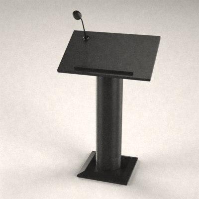 podium microphone 3d model