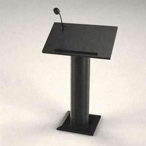 podium microphone 3d model