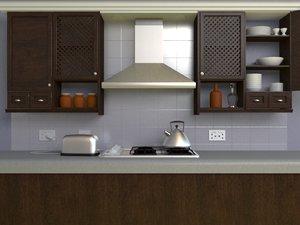 3d kitchen scene
