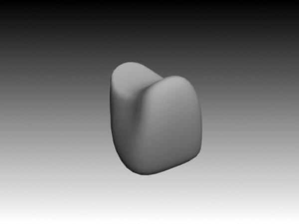 3d model lateral incisiv maxilar