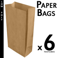 Six Paper Bags (Game Ready)