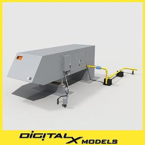 3d model rooftop hvac heater