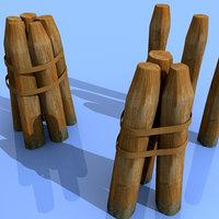 3d max mooring poles ports