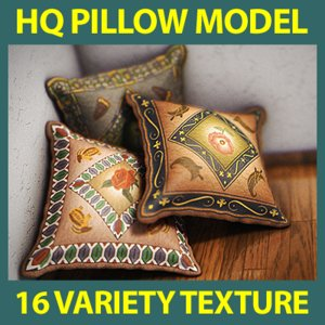 pillow 16 variety 3d model