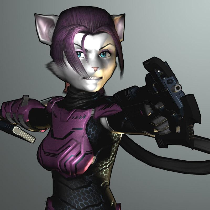 sci-fi animal character modelled 3d model