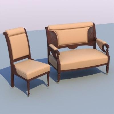 chair sofa 3ds