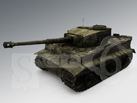 panzer wwii german tank 3d model