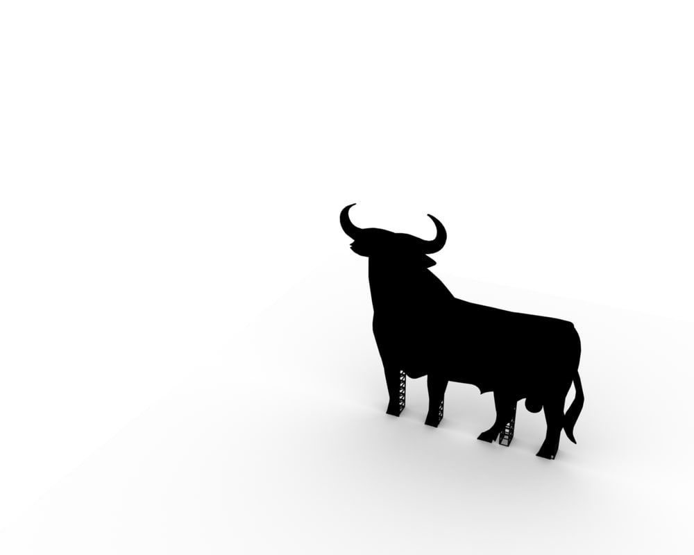 3d model spanish bull billboard
