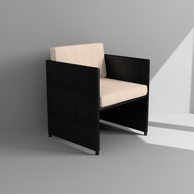 outdoor armchair 3d model