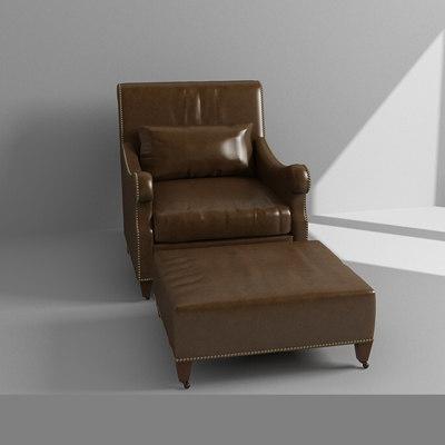 maya leather armchair