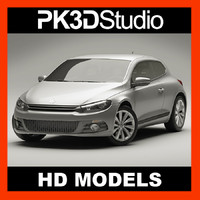 scirocco coupe 3d model