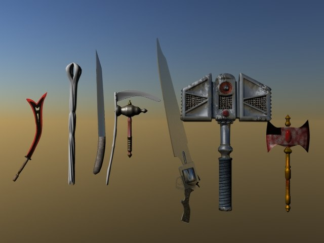 melee weapons lwo