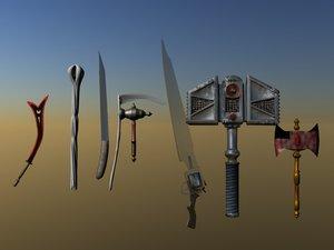 melee weapons lwo