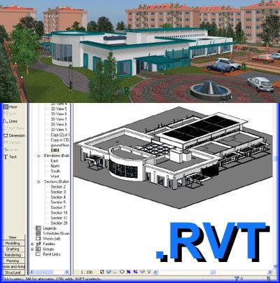 school building revit file 3d model