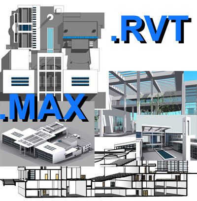 culture centre revit file 3d model