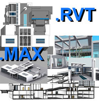 Revit culture centre & max file 01