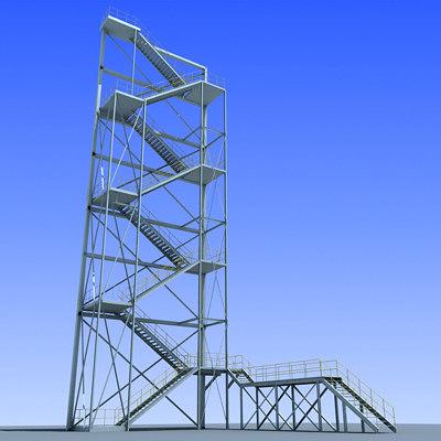 industrial tower 3d model