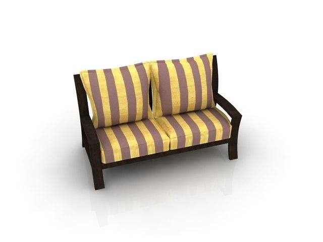 3d 3ds atlantis sofa set 2