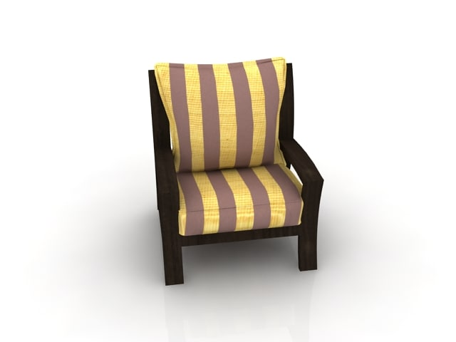 atlantis sofa set single 3d model
