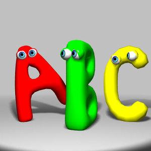 3d alphabetic funny
