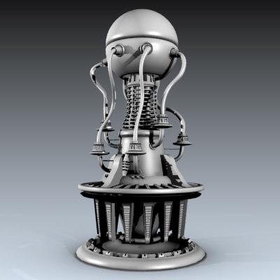 multipurpose alien machine obj