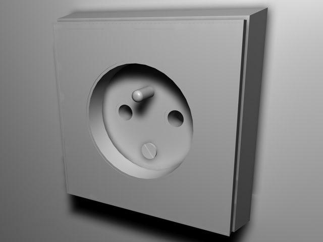 socket outlet 3d c4d