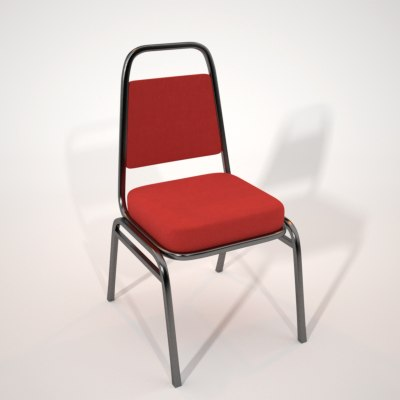 3d obj chair maxwell