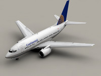 b 737-600 continental airlines 3d model