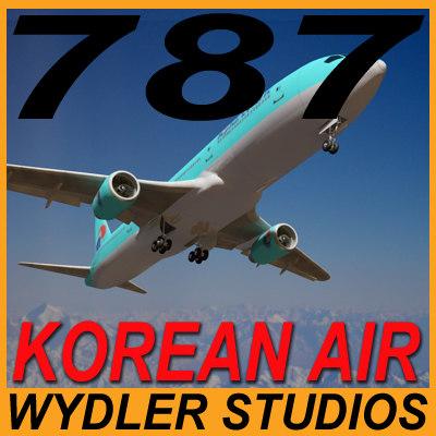 3d max 787-3-korean air
