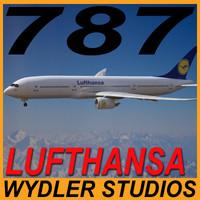 3d model 787-3 lufthansa