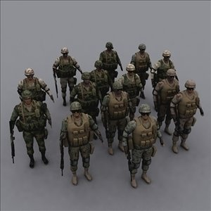 soldiers rigged ranger 3d model