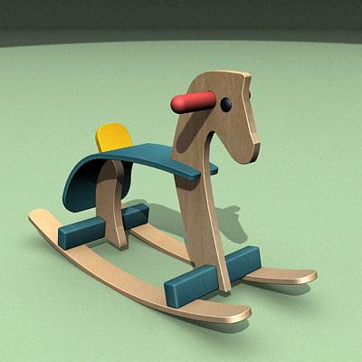 rocking horse 3d max