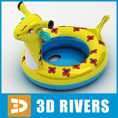 rubber ring swim 3d model