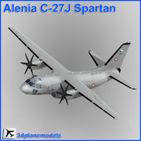 3d model alenia c-27j spartan bulgarian