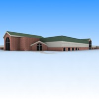 church building 3d max