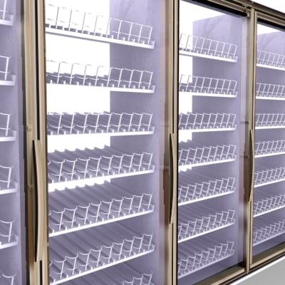 store cooler cold vault 3d model