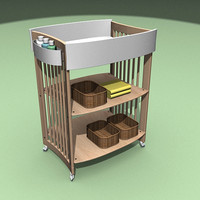 baby changing unit 3d max