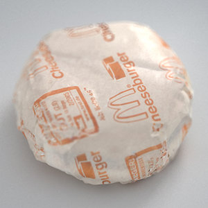 cheeseburger wrapped 3d model