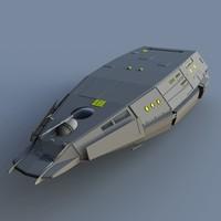 transport ship vessel 3d model