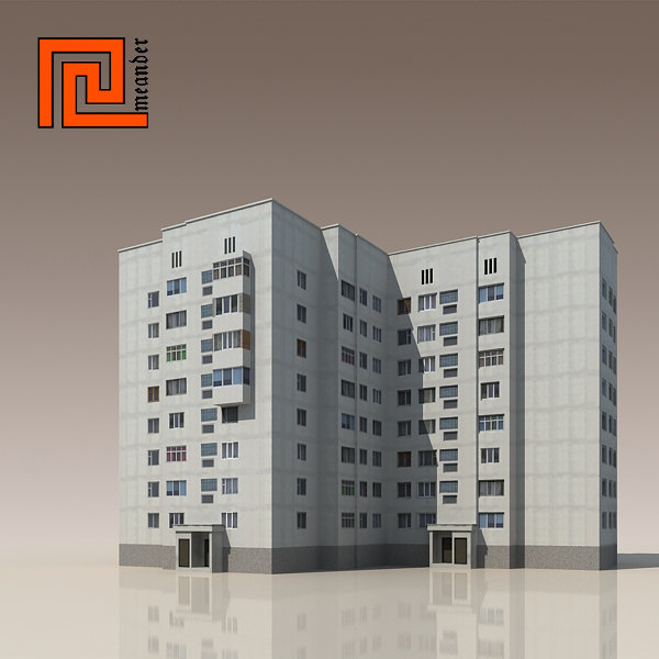 3ds max building modelled