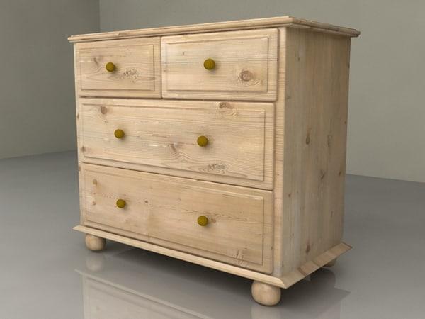 3d harvest wood cupboard bed