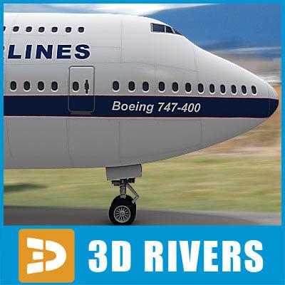 b-747 aircraft 3d max