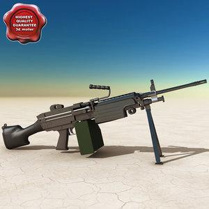m249 squad automatic weapon 3d model