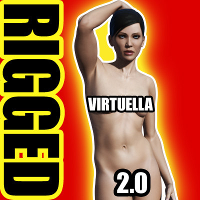 virtuella 2 0 virtual female 3d model