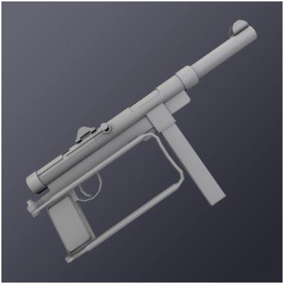 m45 9mm submachine 3d model