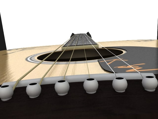3d model fully acoustic guitar