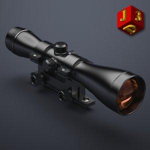 scope optical sight 3d model
